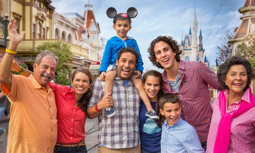 Family Photo In Disney's Magic Kingdom