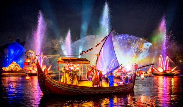 Boat From Rivers Of Light Nighttime Spectacular At Disney's Animal Kingdom