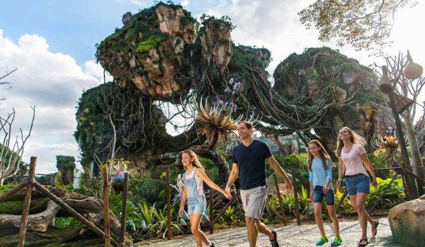 Family Walking Through PANDORA The World Of Avatar At Disney's Animal Kingdom©