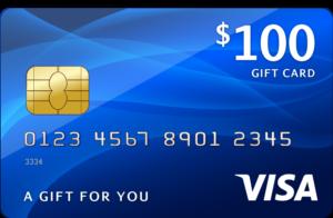Graphic: $100 visa gift card