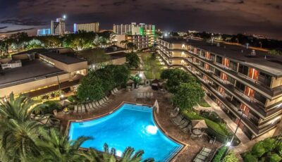 Hotel Rose Inn Pointe Orlando: Arial View Of Pool View At Night